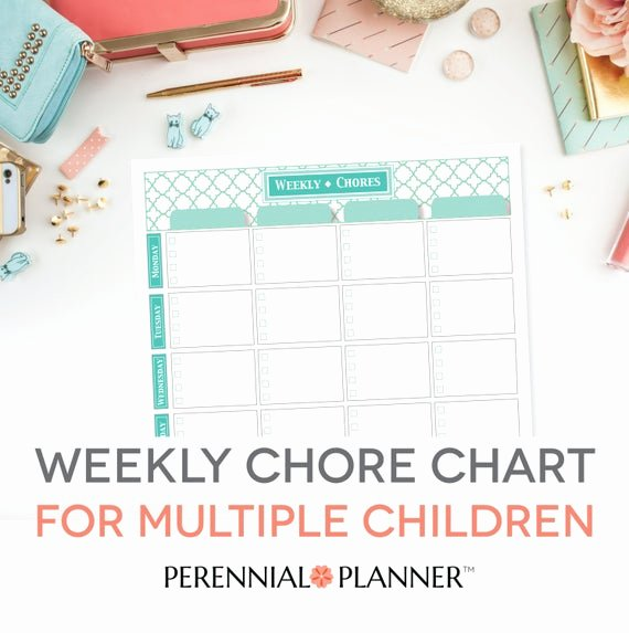 Chore Charts for Multiple Children Fresh Chore Chart Multiple Children Printable Editable Pdf