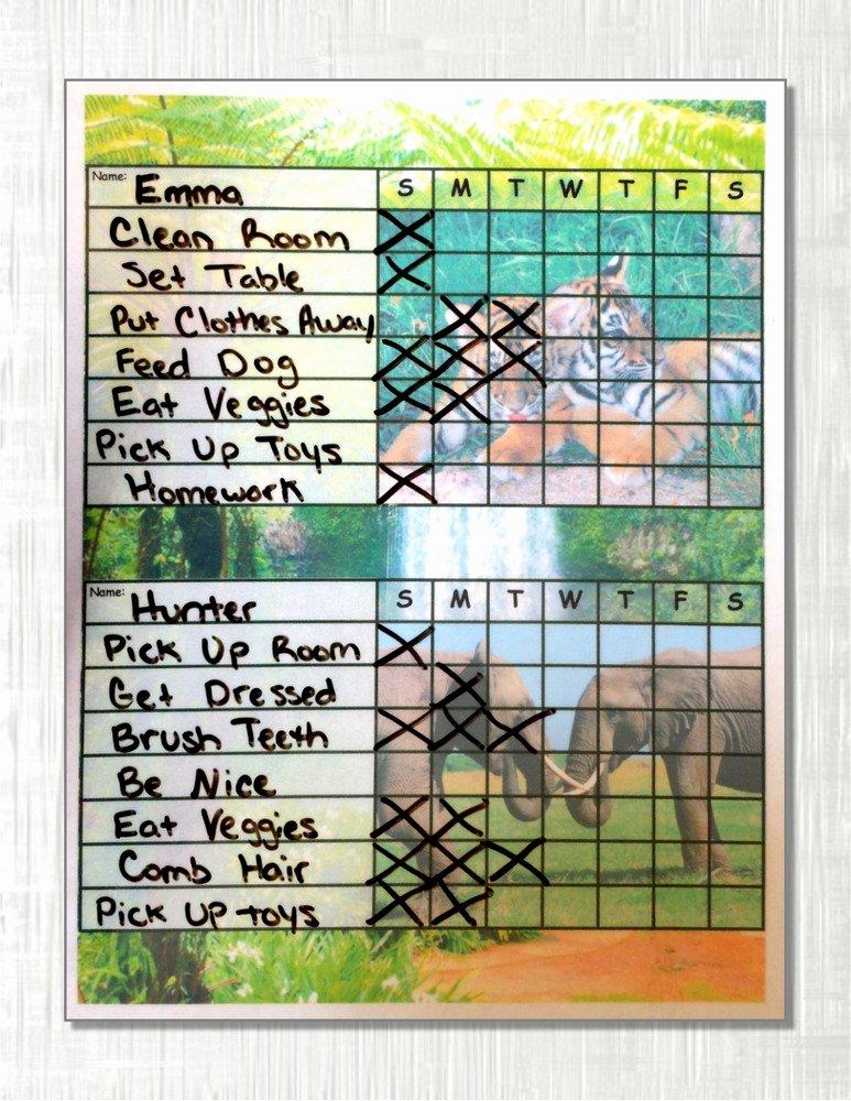 Chore Charts for Multiple Children Lovely Chore Charts for Multiple Children 2 Two or 3 Three Kids