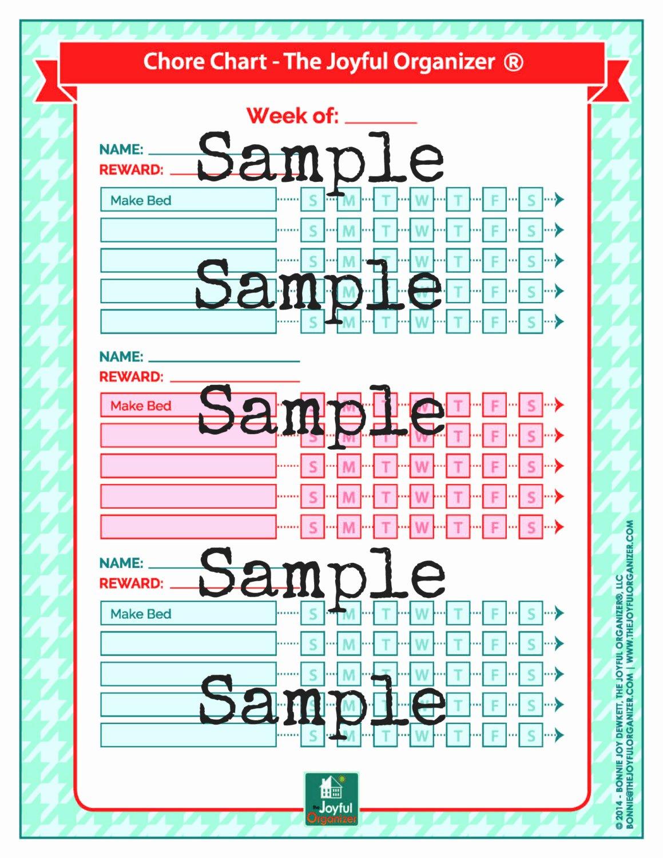 Chore Charts for Multiple Children New Printable Chore Chart for Multiple Kids