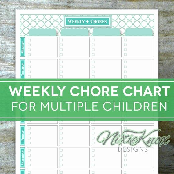 Chore Charts for Multiple Kids Best Of Chore Chart Multiple Children Printable by Perennialplanner