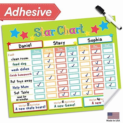 Chore Charts for Multiple Kids Lovely Chore Charts for Multiple Kids Amazon