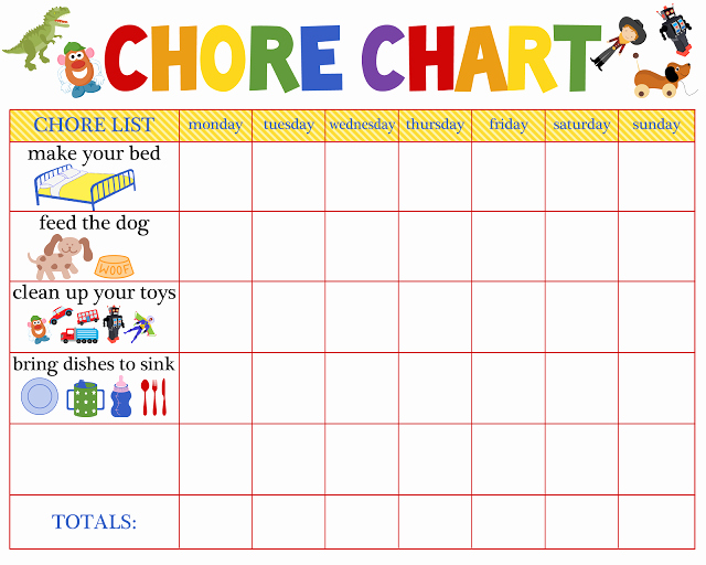 Chore Charts for Multiple Kids Luxury Chore Charts for Multiple Children