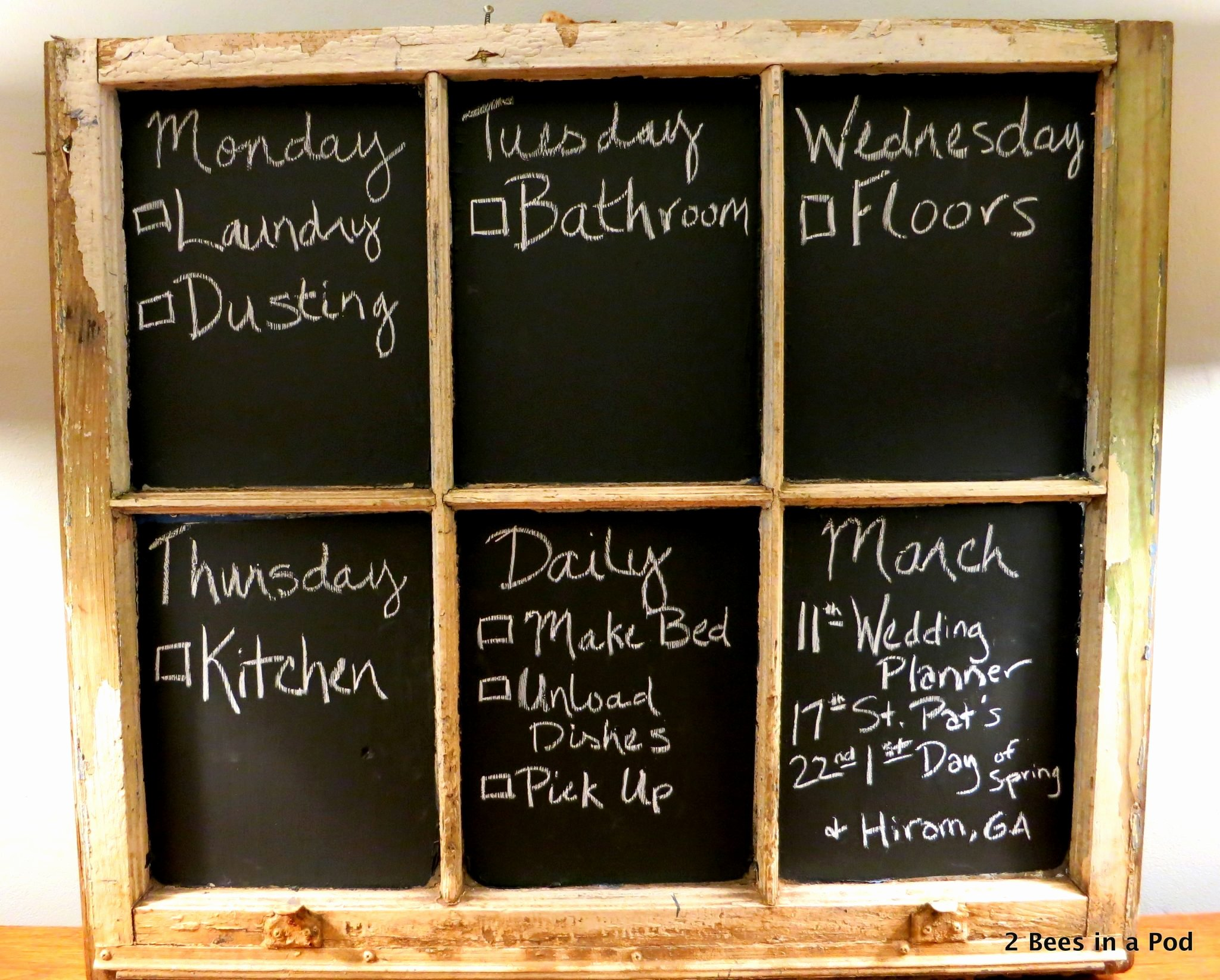 Chore List for Adults Beautiful Chalkboard Chore Chart 2 Bees In A Pod