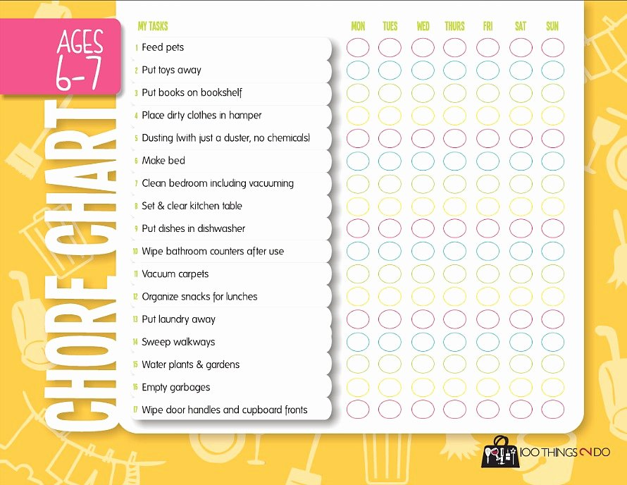 Chore List for Adults New Chores for Kids