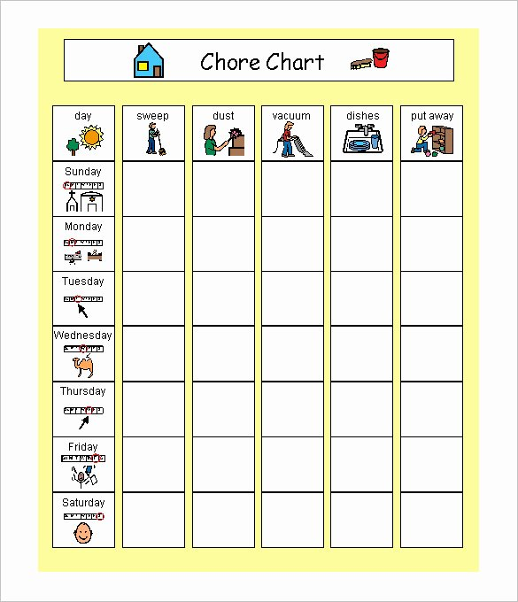 Chore Schedule for Family Lovely 14 Family Schedule Templates Word Pdf