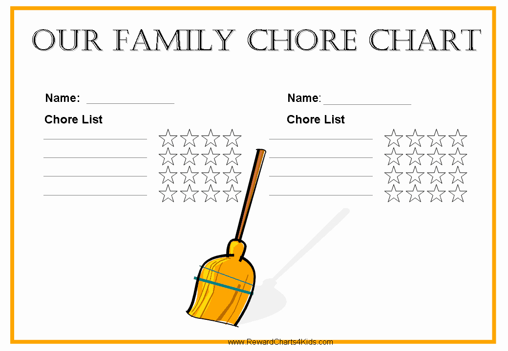 Chore Schedule for Family New Free Family Chore Chart