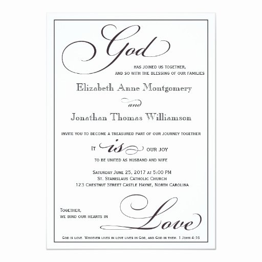 Christian Wedding Program Template Best Of God is Love Christian Script Wedding Invitation