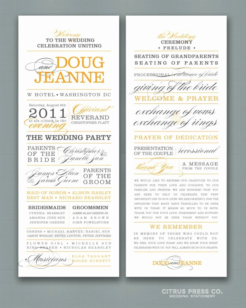 Christian Wedding Program Template Best Of Non Religious New Wedding Ceremony Sample Showing Pic