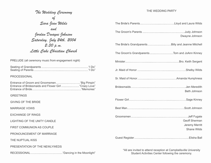 Christian Wedding Program Template Best Of Wedding Program Templates Wedding Programs Fast