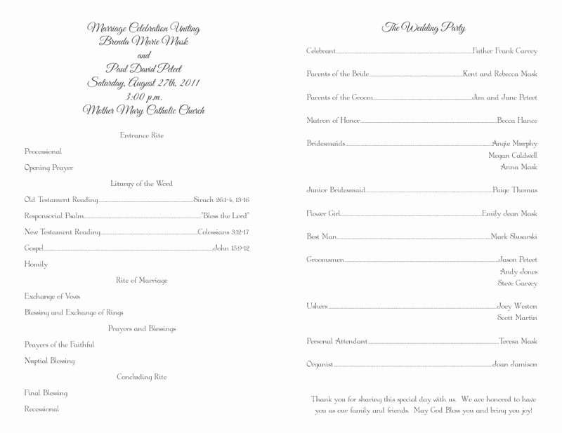 Christian Wedding Program Template Lovely Wedding Program Templates Wedding Programs Fast