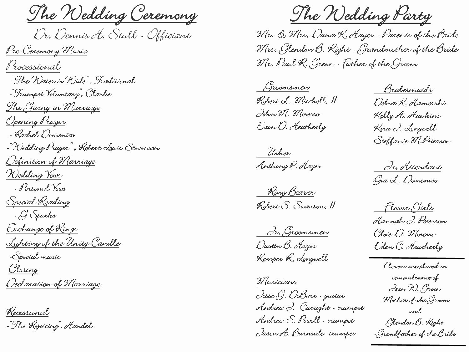 Christian Wedding Programs Templates Best Of Creative Wedding Programs