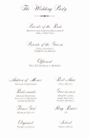 Christian Wedding Programs Templates Luxury 5 Christian Wedding Program Template Rroin
