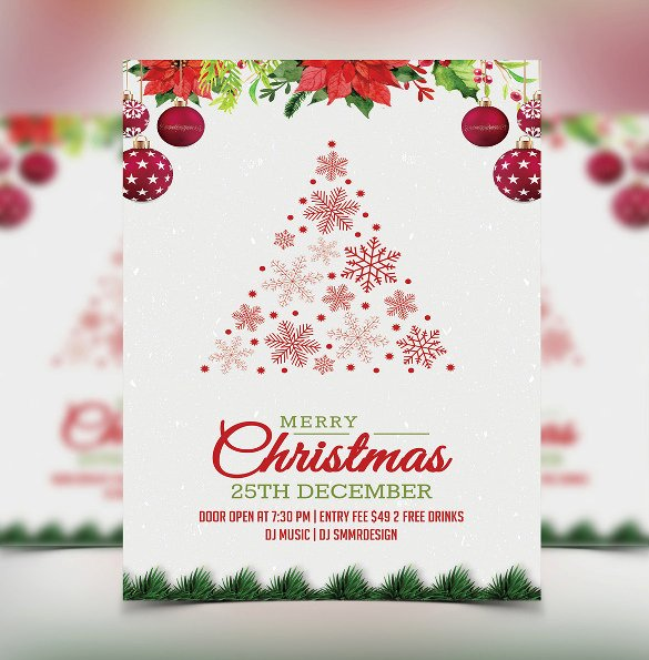 Christmas Dinner Invitation Template Free Awesome 32 Christmas Invitation Templates Psd Ai Word