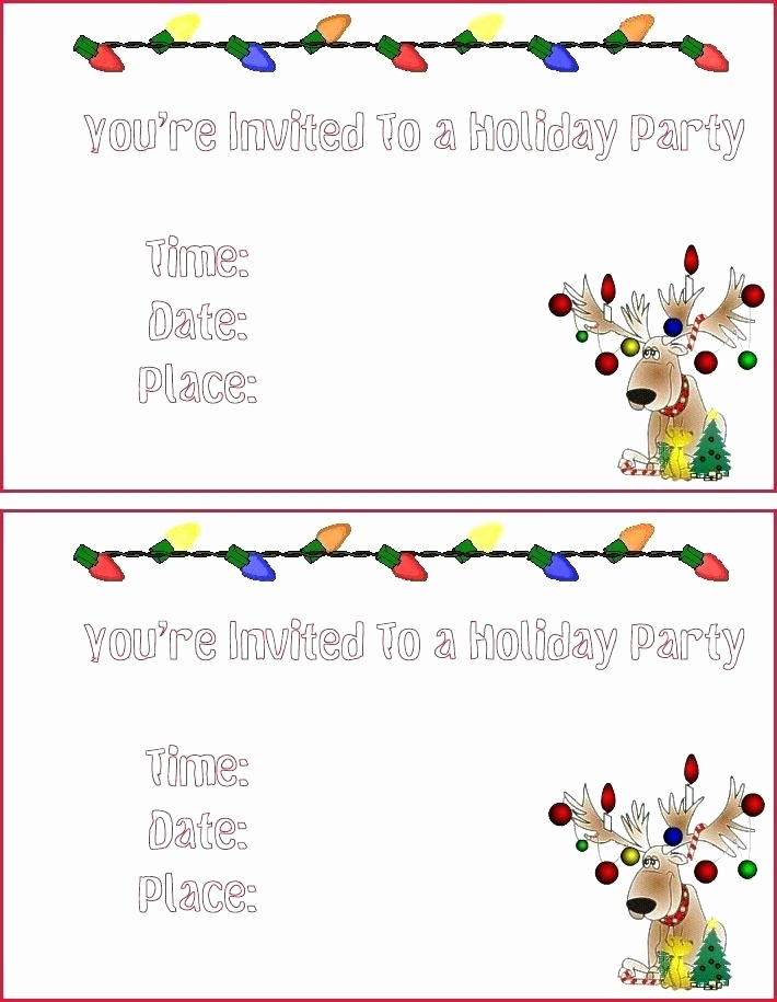 Christmas Dinner Invitation Template Free Best Of Christmas Dinner Invitation Templates Free Printable
