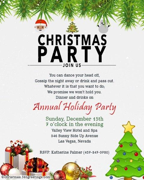 Christmas Dinner Invitation Template Free Best Of Christmas Invitation Template and Wording Ideas