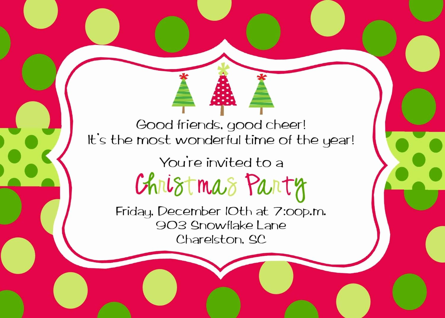 Christmas Dinner Invitation Template Free Fresh Christmas Party Invitation Template