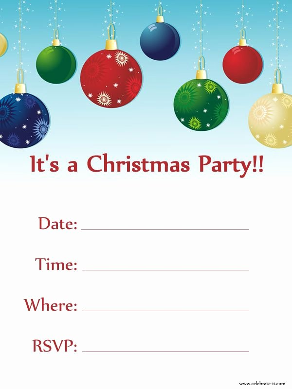 Christmas Dinner Invitation Template Free Inspirational Christmas Party Invitation Free Download