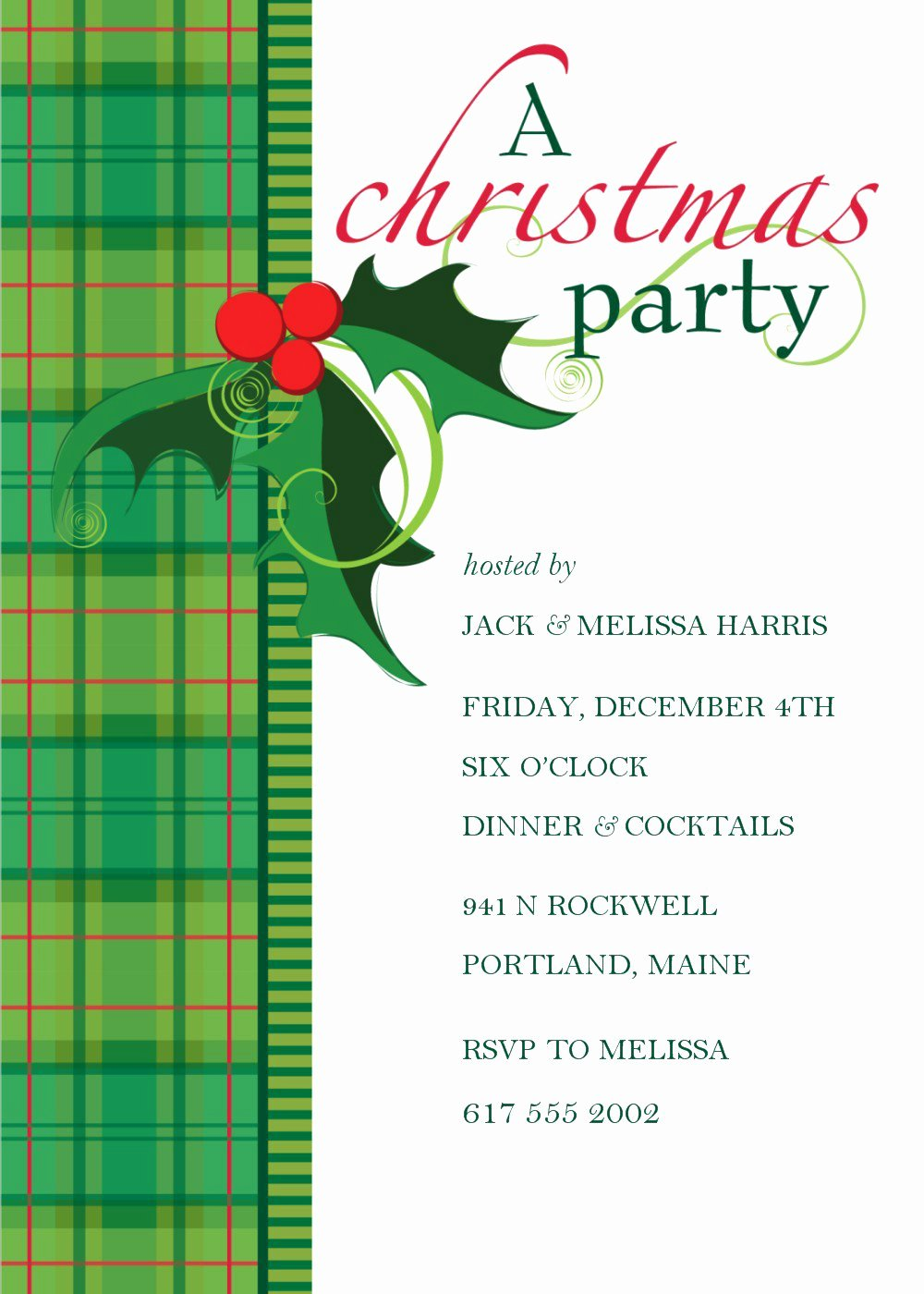 Christmas Dinner Invitation Template Free Lovely Dinner Invitation Templates Free