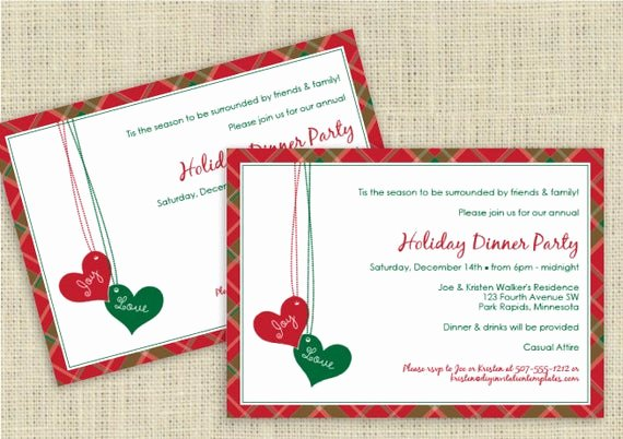 Christmas Dinner Invitation Template Free Luxury Christmas Dinner Invitation Template by Loveandpartypaper
