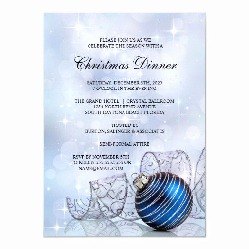 Christmas Dinner Invitation Template Free Luxury Christmas Dinner Party Invitation Template