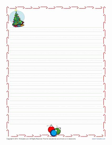 Christmas Paper to Print Best Of Christmas Writing Paper for Kids