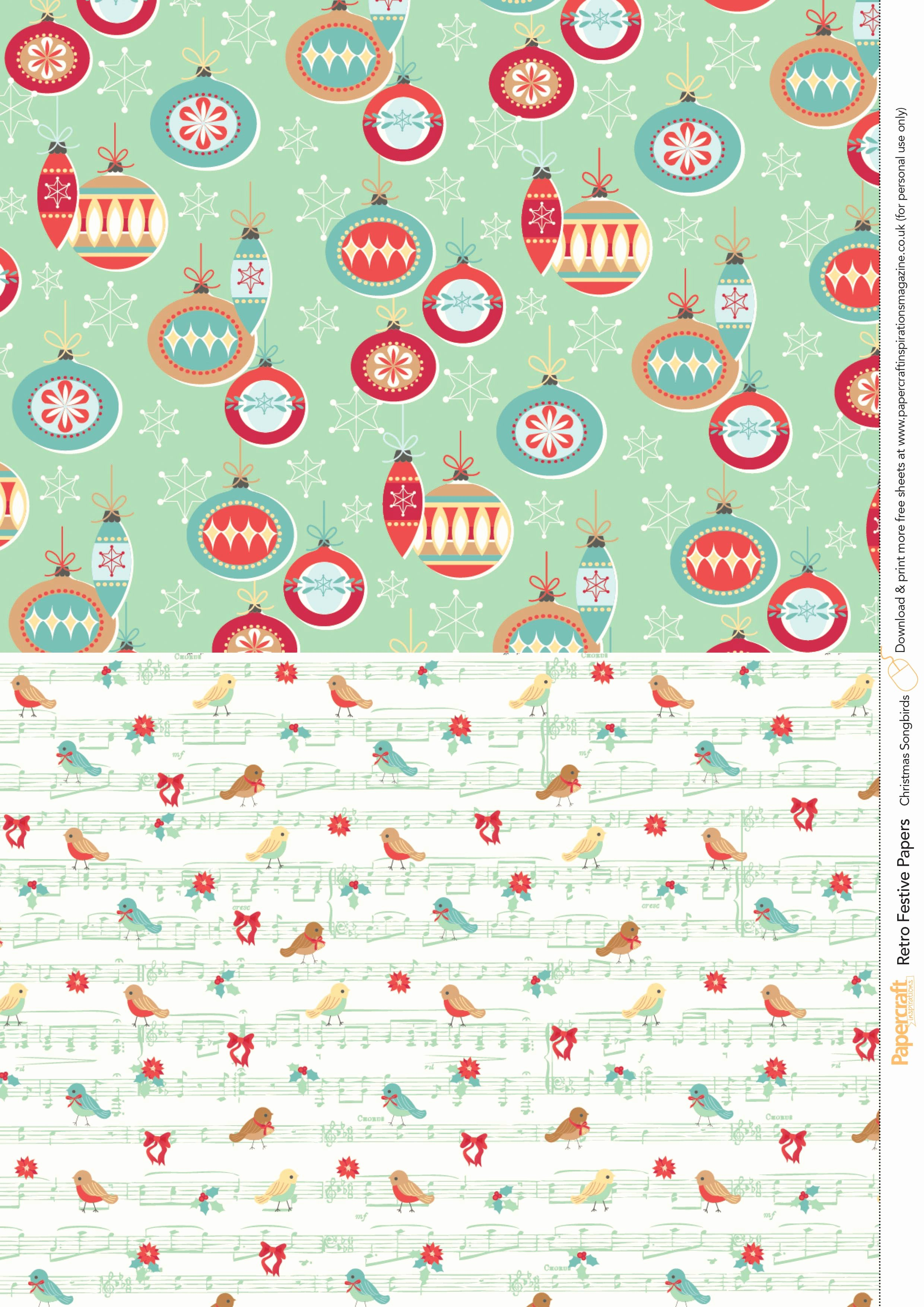 Christmas Paper to Print Best Of Retro Festive Free Printables From Papercraft Inspirations 145