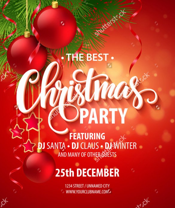 Christmas Party Invitation Template Free Awesome 25 Party Invitation Templates Psd Ai Word