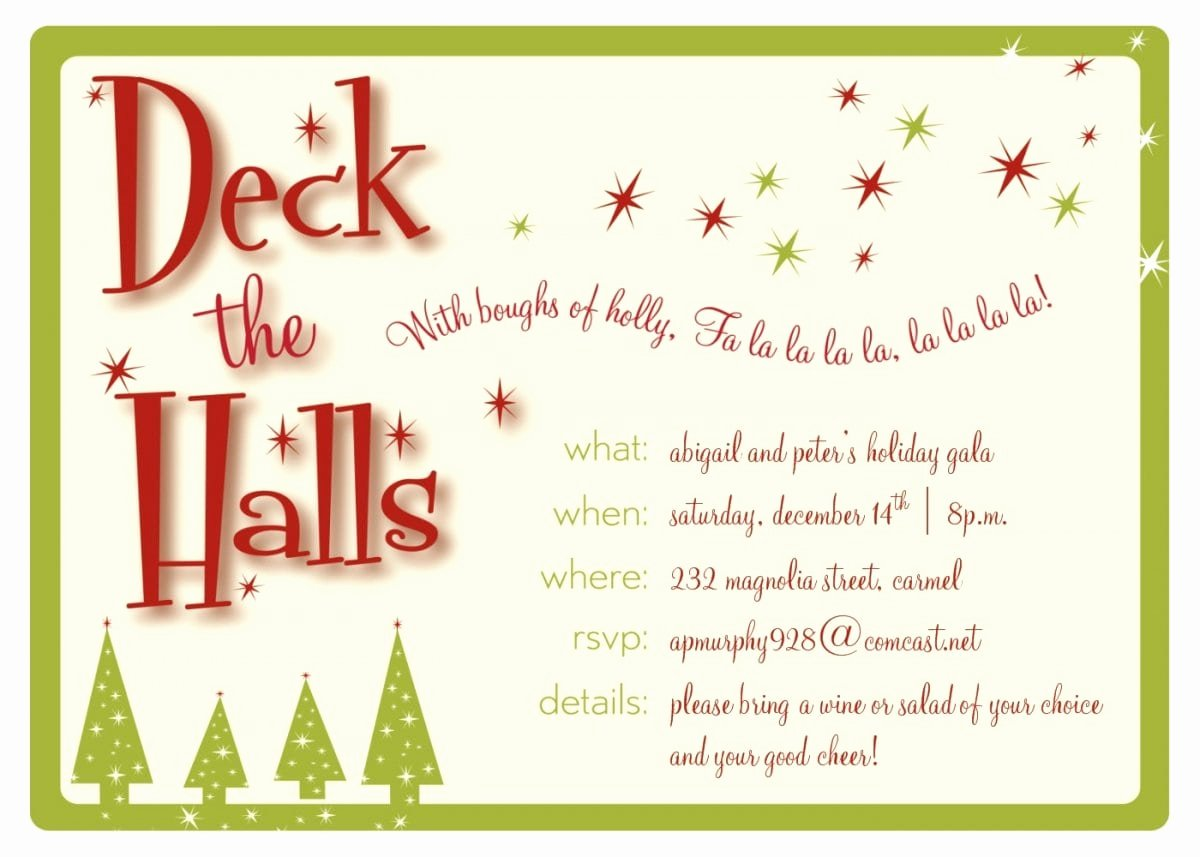 Christmas Party Invitation Template Free Awesome Christmas Invitation Templates