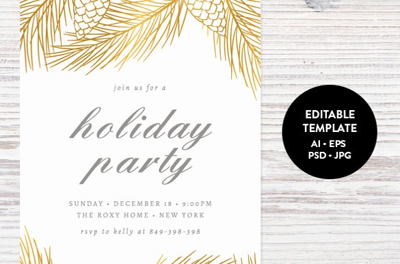 Christmas Party Invitation Template Free Awesome Holiday Invitation Template – 17 Psd Vector Eps Ai Pdf