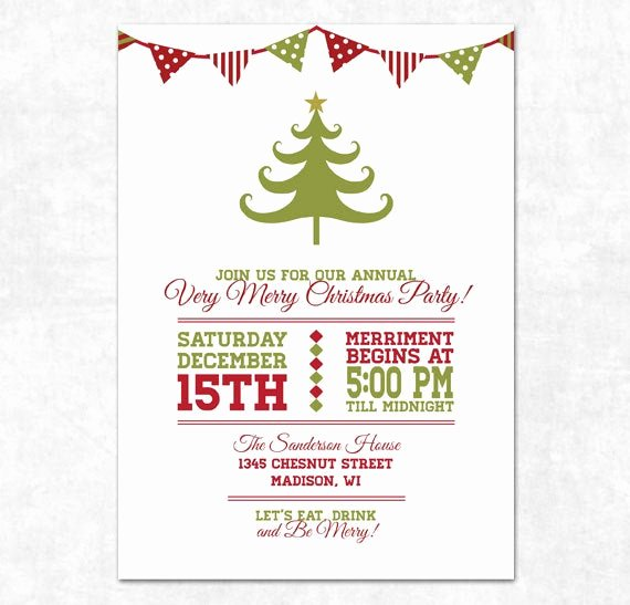 Christmas Party Invitation Template Free Awesome Items Similar to Printable Christmas Invitation Holiday