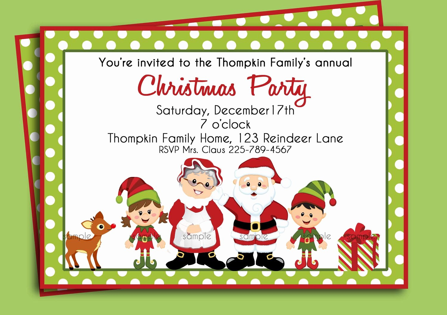 Christmas Party Invitation Template Free Beautiful Christmas Birthday Party Invitations