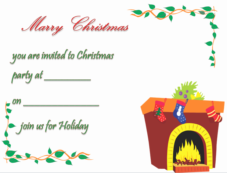 Christmas Party Invitation Template Free Best Of Christmas Party Invitation Template Free & Printable