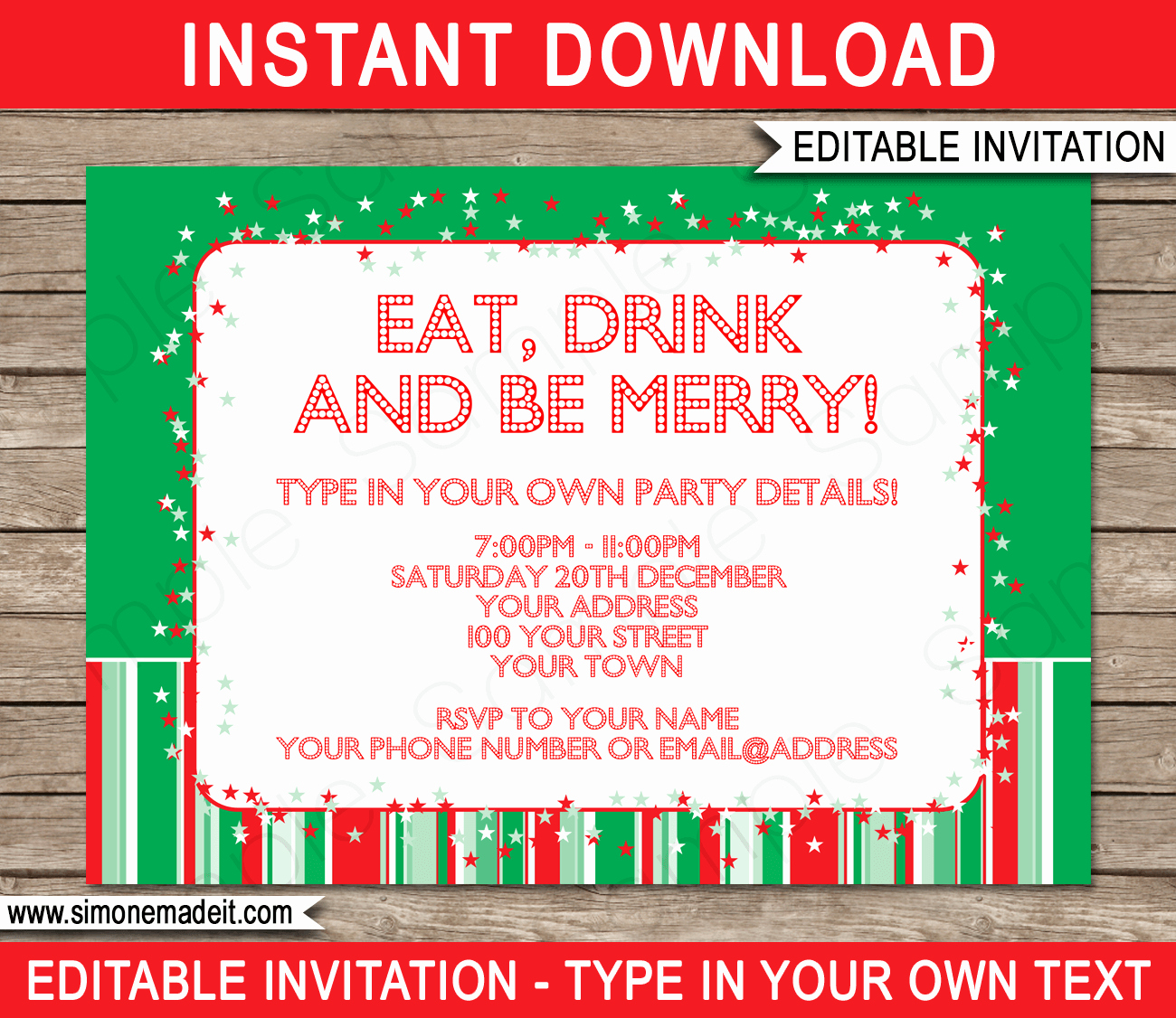 Christmas Party Invitation Template Free Best Of Christmas Party Invitations Template