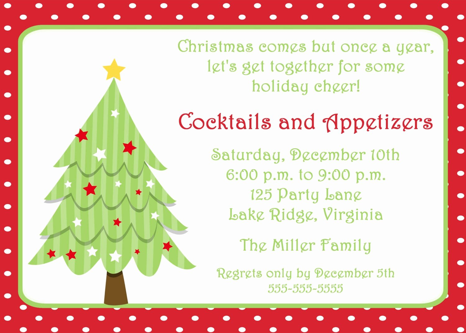 Christmas Party Invitation Template Free Elegant Printable Christmas Tree Invitation by Noteworthyprintables