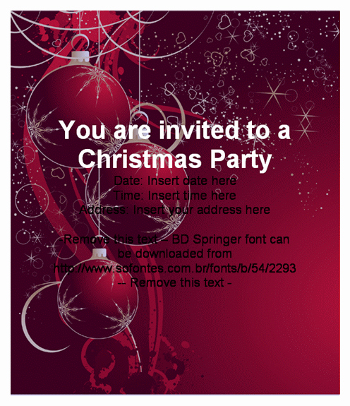 Christmas Party Invitation Template Free Inspirational Beautiful Christmas Party Invitation Card