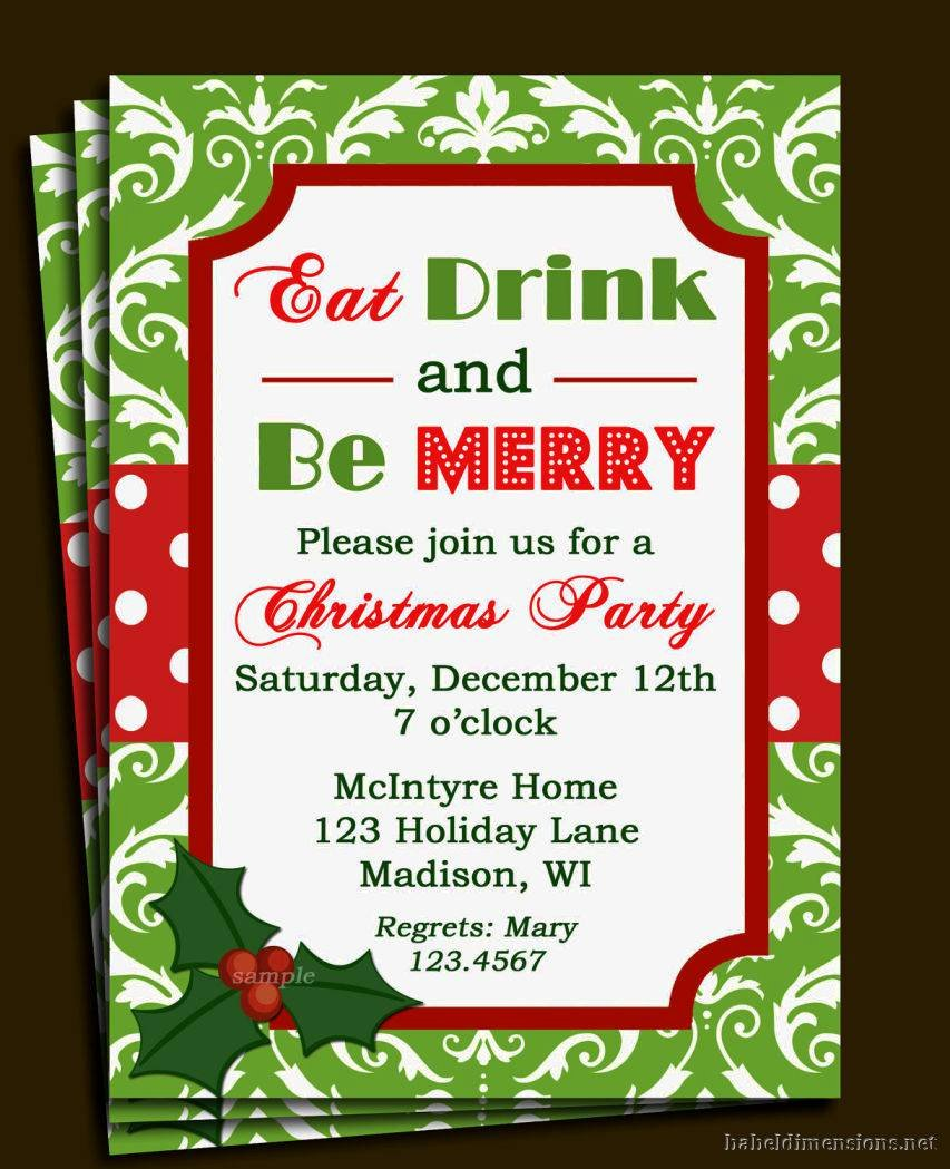 Christmas Party Invitation Template Free Inspirational Christmas Party Invitations Templates Word