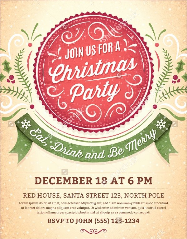 Christmas Party Invitation Template Free Luxury 32 Christmas Party Invitation Templates Psd Vector Ai