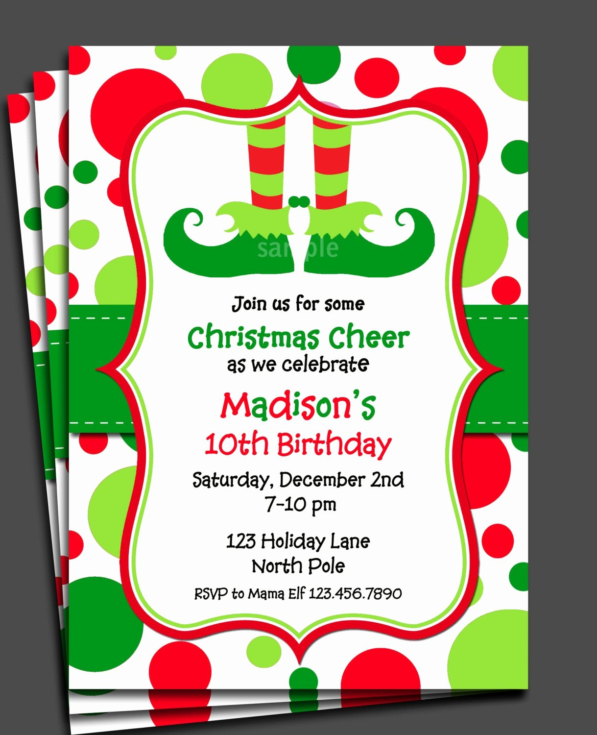 Christmas Party Invitation Template Free New Christmas Elf Invitation Printable or Printed with Free