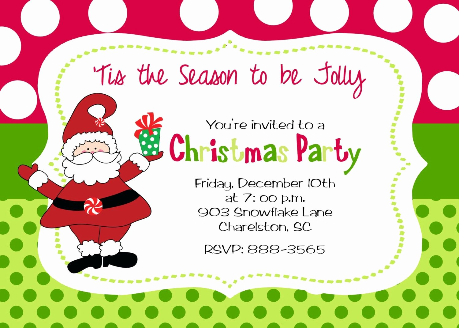 Christmas Party Invitation Template Free New Christmas Party Invitation by Stickerchic Etsy