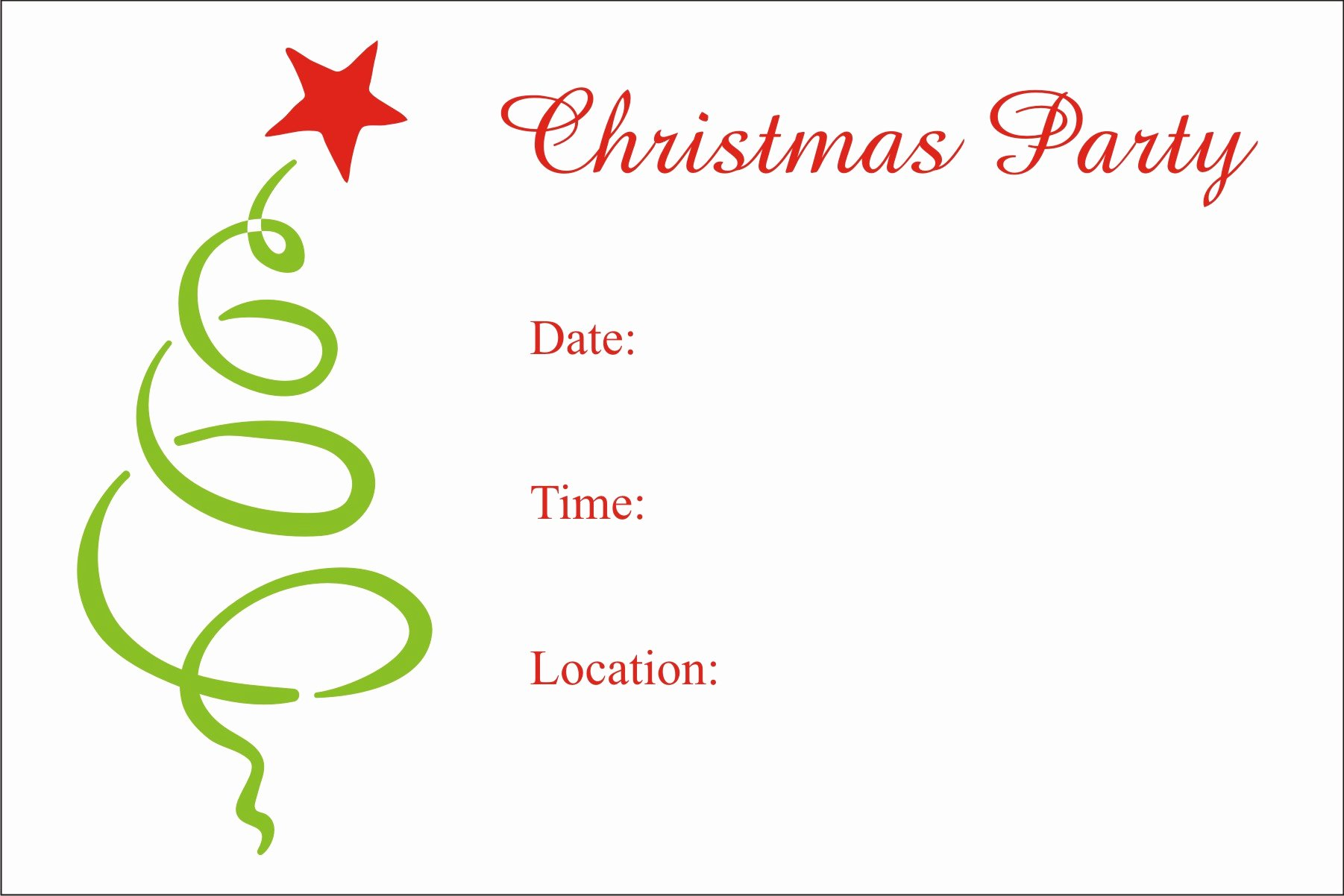 Christmas Party Invitation Template Free Unique Christmas Party Free Printable Holiday Invitation