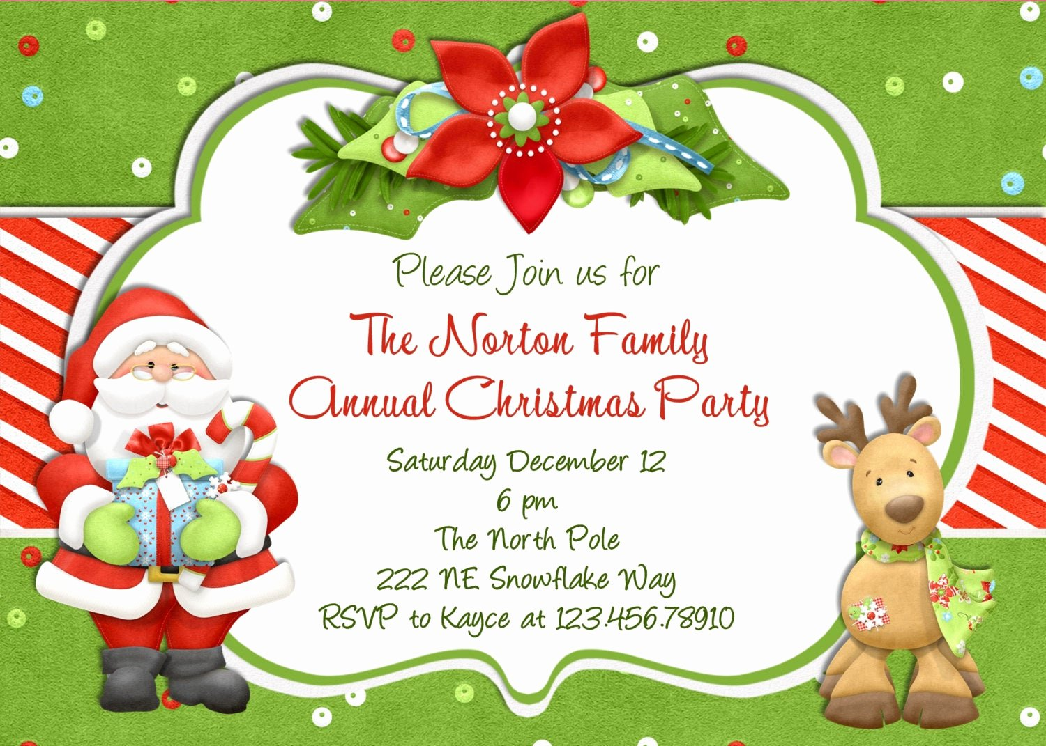 Christmas Party Invitation Template Free Unique Christmas Party Invitation Christmas Holiday Party