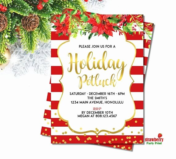 Christmas Potluck Invitation Wording Best Of Best 25 Potluck Invitation Ideas On Pinterest