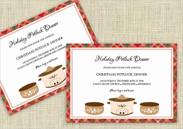 Christmas Potluck Invitation Wording Elegant 10 Potluck Party Invitations Psd Ai