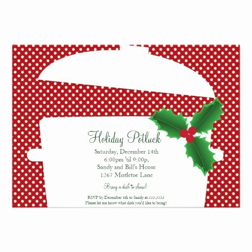Christmas Potluck Invitation Wording New Christmas Potluck Invitation