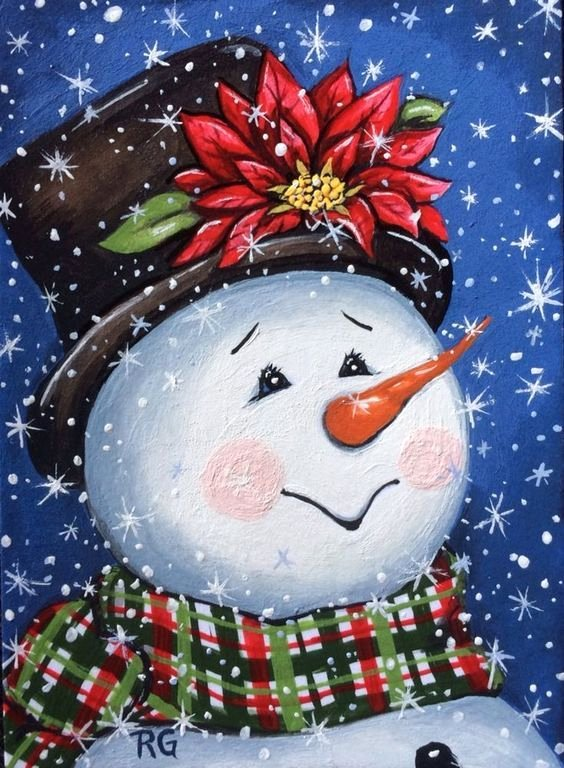 Christmas Scenes to Paint Beautiful Best 25 Painted Snowman Ideas On Pinterest