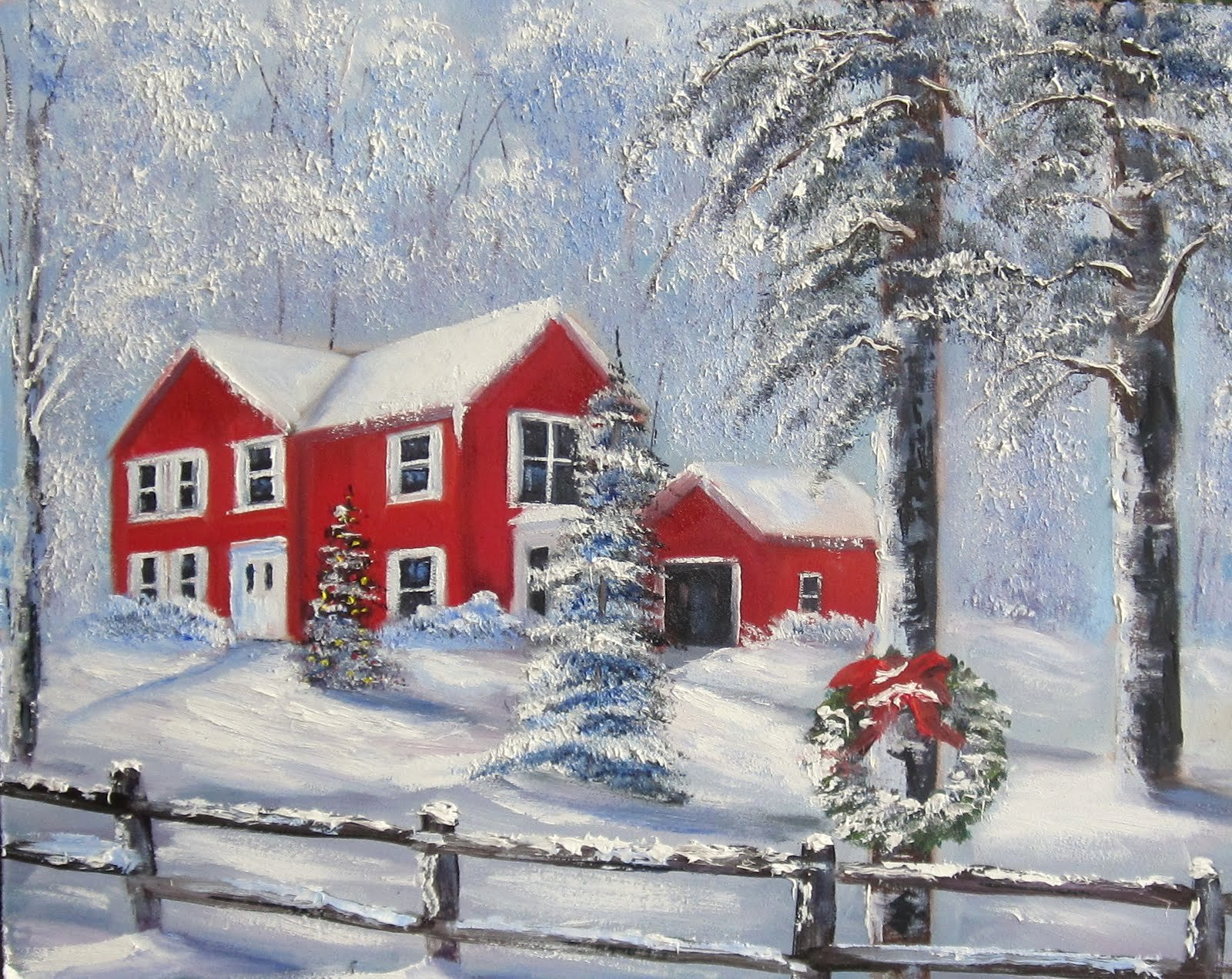Christmas Scenes to Paint Beautiful Davis Galleries Landscape Art Christmas In Connecticut