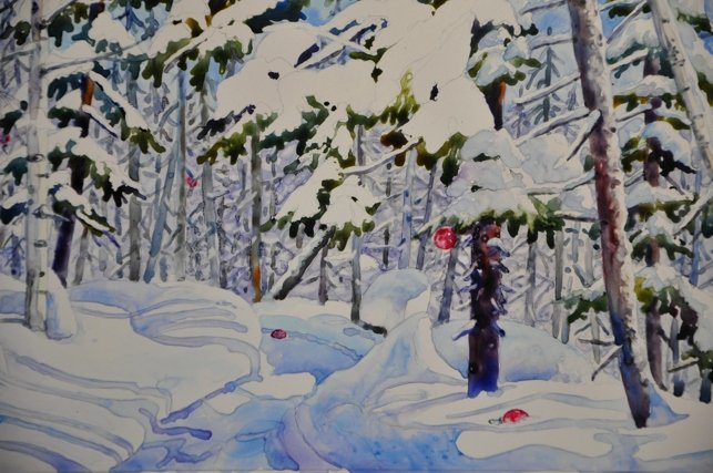 Christmas Scenes to Paint Beautiful Watercolor Reflections Watercolor Projects On Yupo and