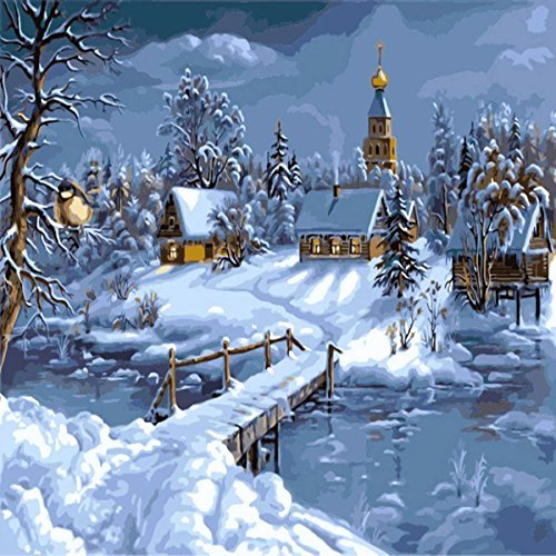 Christmas Scenes to Paint Elegant Christmas Paint by Number Kits • Fy Christmas