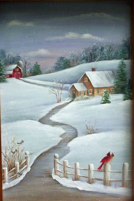 Christmas Scenes to Paint Elegant so Pretty and Looks Fun to Paint
