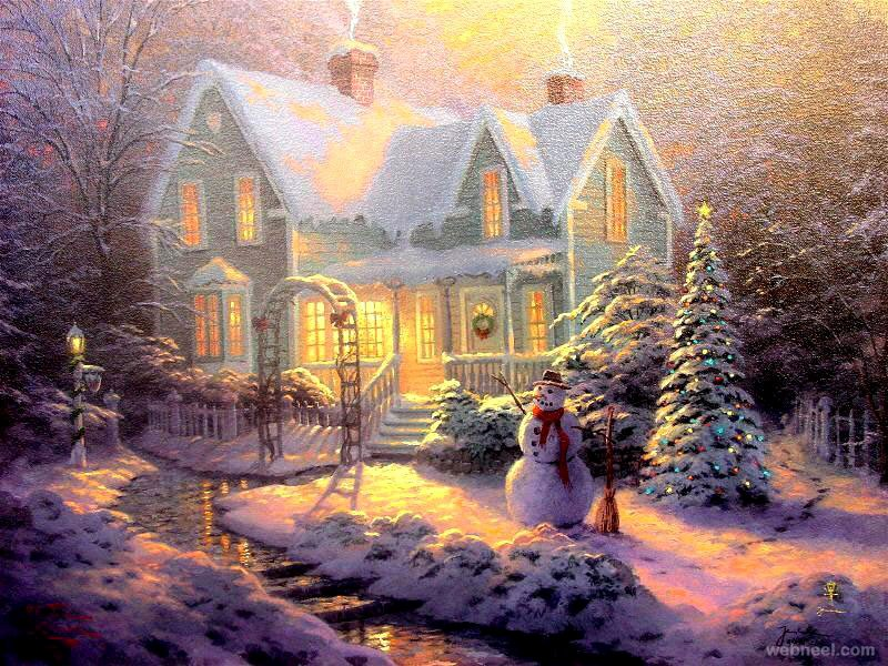 Christmas Scenes to Paint Luxury Christmas Paintings 15 Full Image